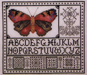 Click for more details of Rose Watercolor Butterfly (cross stitch) by Rosewood Manor