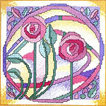 Click for more details of Rose Window (cross-stitch kit) by Jean Coates