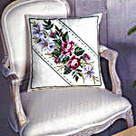 Click for more details of Roses and Lilies Cushion (cross stitch) by Permin of Copenhagen