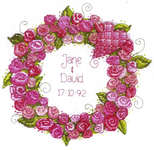 Click for more details of Roses Wreath (cross-stitch kit) by Cinnamon Cat