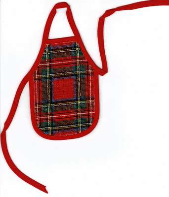 Click for more details of Royal Stuart Tartan Wine Bottle Apron (cross stitch) by Anne Peden