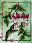 Click for more details of Ruby-throated Hummingbird (cross-stitch pattern) by Crossed Wing Collection