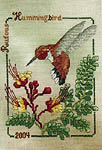 Click for more details of Rufous Hummingbird (cross stitch) by Crossed Wing Collection