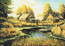 Click for more details of Rural River Landscape (cross-stitch) by Kustom Krafts