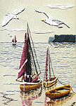 Click for more details of Sailing Boats (embroidery kit) by Sue Dakin
