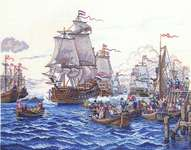 Click for more details of Sailing Ships (cross stitch) by Eva Rosenstand