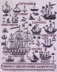 Click for more details of Sailing Ships Sampler (cross-stitch pattern) by Rosewood Manor