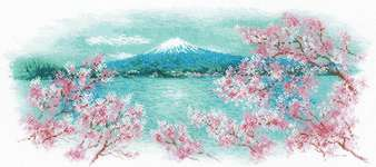 Click for more details of Sakura - Fuji (cross stitch) by Riolis