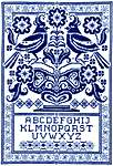Click for more details of Sampler in Blue (cross-stitch pattern) by Imaginating