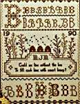 Click for more details of Sampler of Bees (cross-stitch pattern) by The City Stitcher