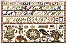 Click for more details of Sampler Soro Denmark 1854 (cross-stitch kit) by Permin of Copenhagen