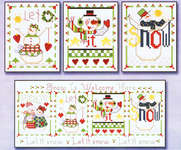 Click for more details of Sampler Teenies - Please Let it Snow (cross stitch) by Alma Lynne