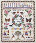 Click for more details of Sampler with Berries (cross stitch) by Eva Rosenstand