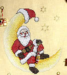 Click for more details of Santa Advent Calendar (cross-stitch kit) by Rico Design