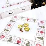 Click for more details of Santa and Christmas Trees Table Toppers (embroidery kit) by Rico Design