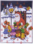 Click for more details of Santa & Children's Friend Calendar (cross-stitch) by Anchor