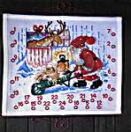 Click for more details of Santa Feeding Reindeer Advent Calendar (cross-stitch) by Permin of Copenhagen