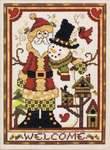 Click for more details of Santa & Friends Welcome (cross-stitch) by Stoney Creek