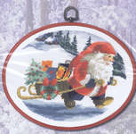 Click for more details of Santa's Pixie with Gifts (cross-stitch) by Permin of Copenhagen