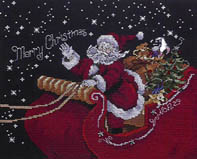 Click for more details of Santa's Sleigh (cross-stitch pattern) by Stoney Creek