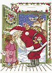 Click for more details of Santa's Visit (cross-stitch kit) by Eva Rosenstand