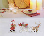 Click for more details of Santa & Sleigh Table Cover (embroidery kit) by Rico Design