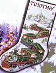 Click for more details of Santa Train Stocking (cross stitch) by Stoney Creek