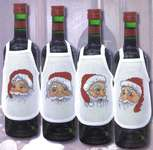 Click for more details of Santa Wine Bottle Aprons (cross-stitch kit) by Permin of Copenhagen