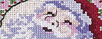 Click for more details of Santas (minis) (cross-stitch pattern) by Sam Hawkins