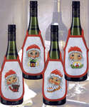 Click for more details of Santas Wine Bottle Aprons (cross-stitch kit) by Permin of Copenhagen