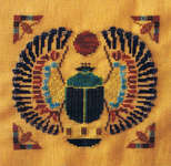 Click for more details of Scarab (cross stitch) by Turquoise Graphics & Designs