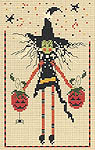 lavender wings witches cross stitch