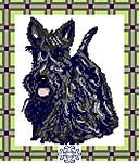 Click for more details of Scottie Dog (cross stitch) by Anne Peden