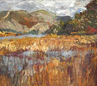 Click for more details of Scottish Scene (oil on board) by Shirley Rothwell