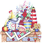 Click for more details of Seashore Shelf (cross stitch) by Bobbie G. Designs
