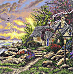 Click for more details of Seaside Hideaway (cross stitch) by Thomas Kinkade
