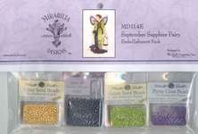 Click for more details of September Sapphire Fairy Embellishment Pack (beads and sequins) by Mirabilia Designs