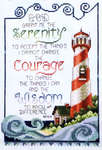 Click for more details of Serenity Prayer Lighthouse (cross-stitch pattern) by Stoney Creek