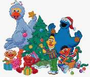 Click for more details of Sesame Street Christmas (cross-stitch kit) by Thea Gouverneur