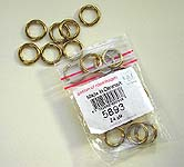 Click for more details of Set of 24 Brass Rings (miscellaneous) by Permin of Copenhagen