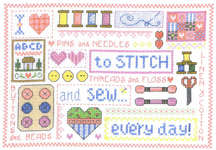 Click for more details of Sew Every Day (cross-stitch pattern) by Imaginating