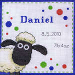 Click for more details of Shaun the Sheep Birth Sampler (cross-stitch kit) by Anchor