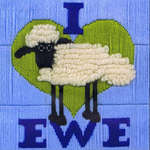Click for more details of Shaun the Sheep - I Love Ewe (long-stitch kit) by Anchor
