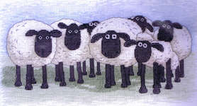 Click for more details of Shaun the Sheep - The Flock (cross-stitch) by Anchor