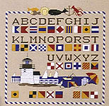 Click for more details of Signals & Sails (cross stitch) by Ginger & Spice