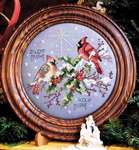 Click for more details of Silent Night Cardinals (cross stitch) by Stoney Creek