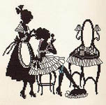 Click for more details of Silhouette - Lady Dressing (cross-stitch kit) by Eva Rosenstand