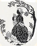 Click for more details of Silhouette - Lady strolling in her garden (cross-stitch) by Eva Rosenstand