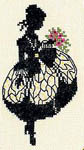 Click for more details of Silhouette - Lady with Flowers (cross-stitch) by Eva Rosenstand