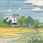Click for more details of Silken Long Stitch : Windmill (long-stitch) by Rose Swalwell